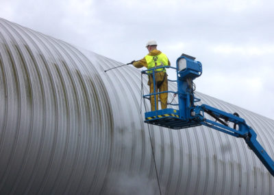 Nettoyage de bardages chez AGC Glass – Technovation Center à Gosselies